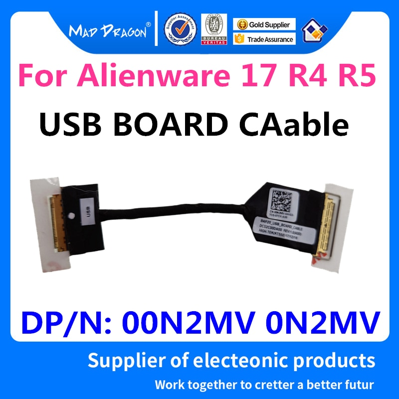 MAD DRAGON Brand laptop NEW USB BOARD CABLE for Dell Alienware 17 R4 R5 AWL17 BAP20  USB BOARD CABLE 00N2MV 0N2MV DC02C00DA00