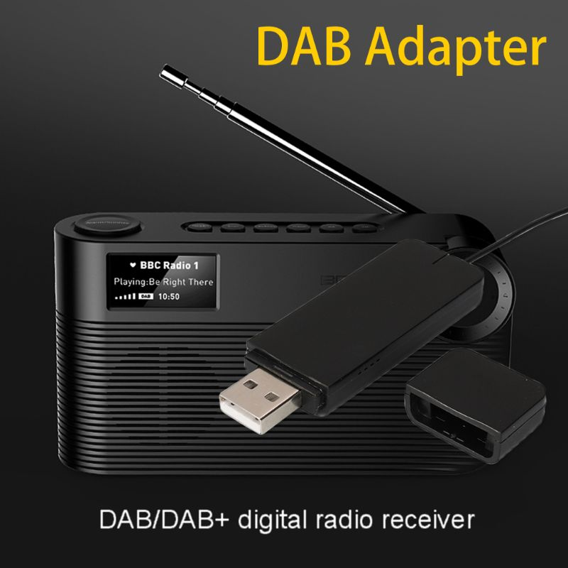 New DAB Digital Radio Receiver with Antenna for Bluetooth Speaker Home Stereo TV with USB Read Disk