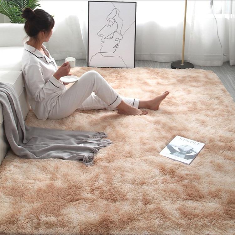 RULDGEE Shaggy Tie Dye ковер с принтом Alfombra плюшевые напольные пушистые коврики детская комната искусственный мех коврик для гостиной коврики шелков...