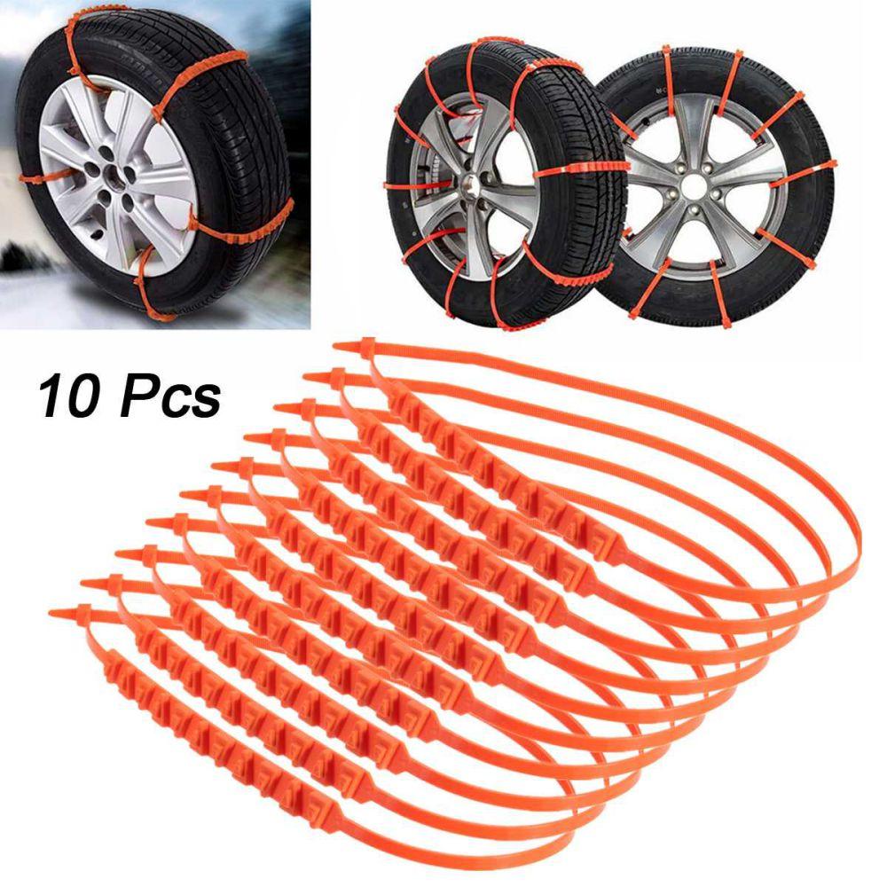 10 шт. автомобильные зимние шины, цепи противоскольжения на колеса противоскользящие цепи для снежных шин, кабельный ремень для колес, зимня...