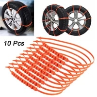 10pcs car winter tire wheels snow chains snow tire anti skid chains wheel tyre cable belt winter outdoor emergency chain stc01