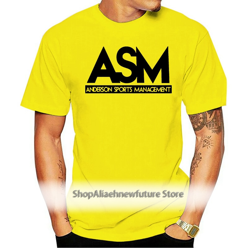 2021 Customized products Cheap 100 men hot cotton ASM Anderson Management Tee Funny TV Series Dwayne Johnson T Shirt