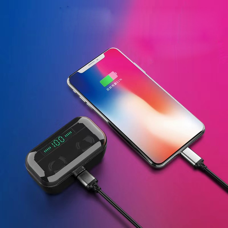 G6s Tws 5.0 Wireless Bluetooths Earphone Headphone Mini Earbuds Support Wireless Charging LED Display Power Bank Functions enlarge