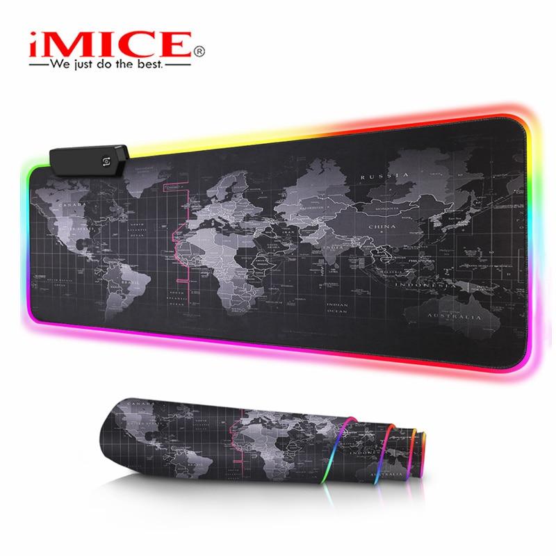 Большой коврик для мыши, компьютерный коврик для мыши RGB, игровой коврик для мыши XXL, геймерский большой коврик для мыши, RGB коврик для мыши, ко...