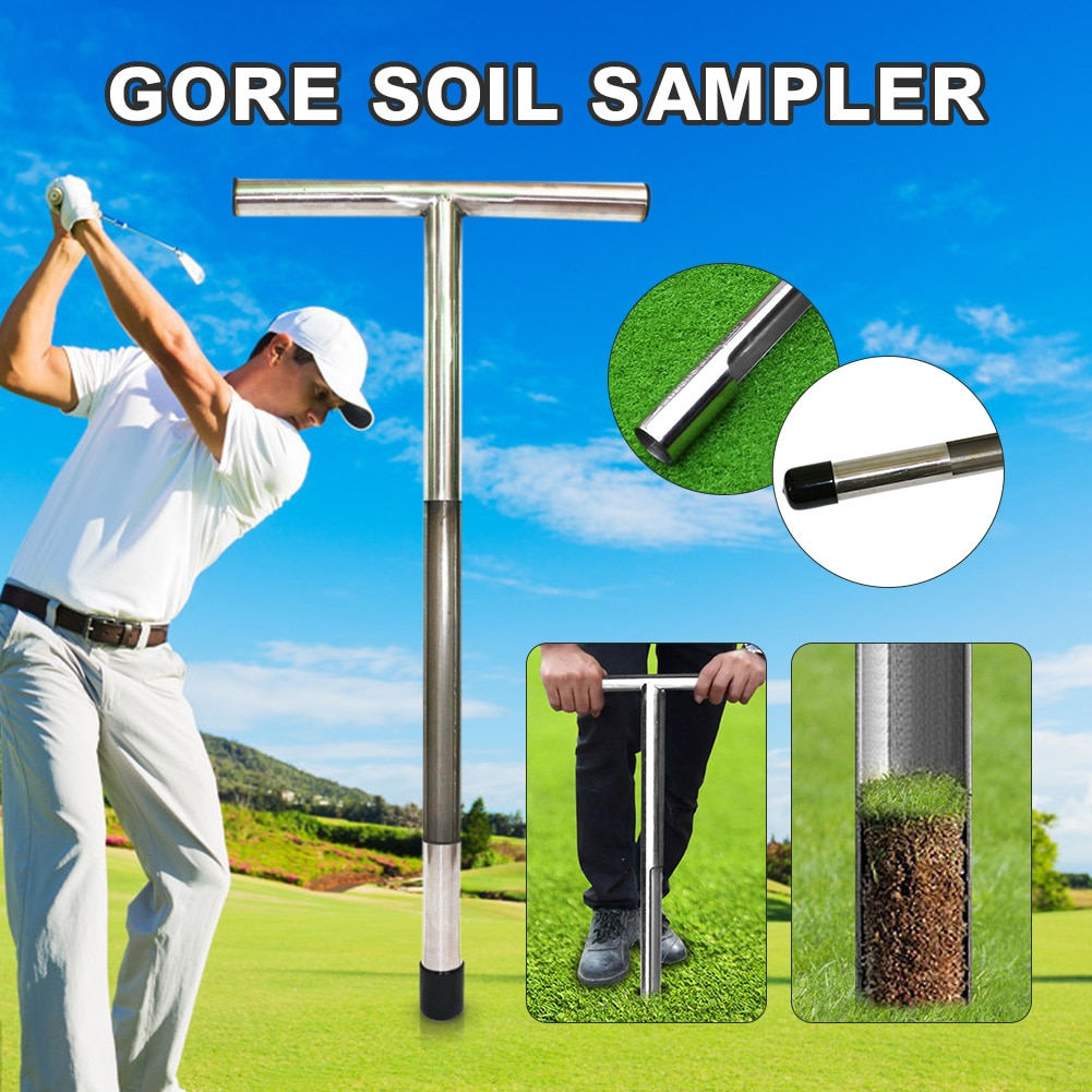 Soil sampler probe 20 inch stainless steel excavator soil test kit stainless steel lawn maintenance tool garden tool accessories