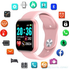 Y68 montre intelligente enfants enfants Smartwatch pour filles garçons électronique horloge intelligente étudiants enfant Sport Smart-Watch âgé de 3-18 ans