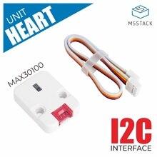 M5Stack plus récent Mini unité de fréquence cardiaque MAX30100 Module capteur pour Arduino/faible puissance fréquence cardiaque oxygène impulsion rupture I2C Interface