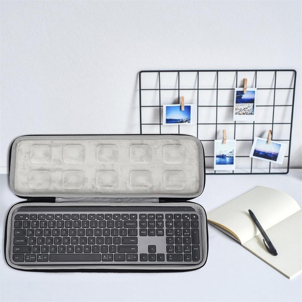 Hard Travel Case Portable Storage Bag For Logitech MX Keys Advanced Keyboard Tablet Laptop Computer