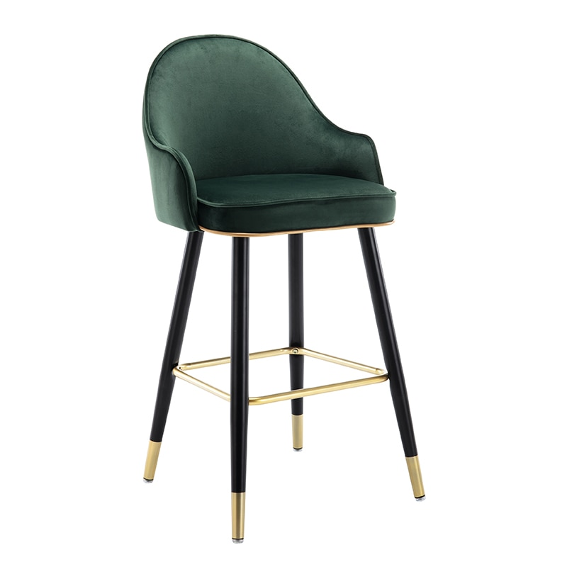 Light Luxury Bar Chair Household High Stool Modern Simple Island Platform     Front Desk  Back