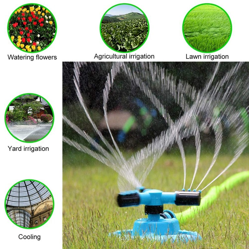 Garden Sprinklers 360 Degree Rotating Sprinkler Garden Irrigation  Tool Lawn Watering Automatic Watering Grass Lawn