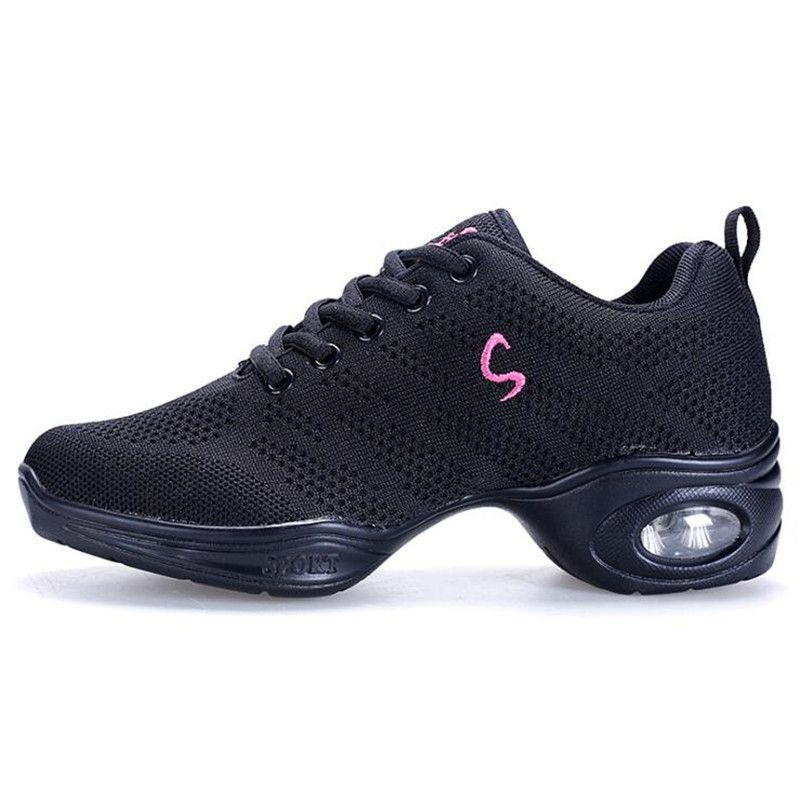 Кроссовки женские для танцев, дышащие сетчатые, на платформе, в стиле модерн, хип-хоп, джаз, для учителей, танцевальная обувь для мужчин и жен...