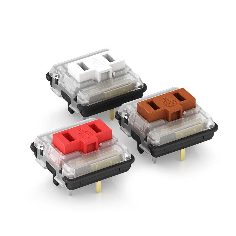 10 шт. Kailh 1350 шоколад низкий профиль для светодиодной подсветкой RGB механическая клавиатура Настенные переключатели белого, синего, красного цветов