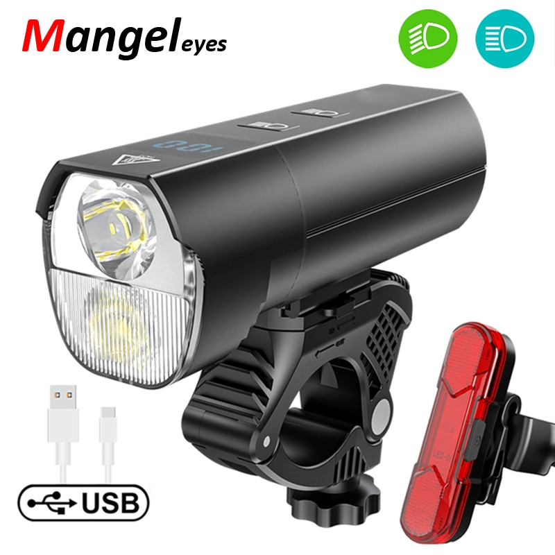 2021 Bike Light Headlight For Power Bank UBS Rechargeable Bicycle Front Lamp LED Powerful Flashlight