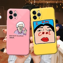 Cool Phone Case for IPhone 6s 7 8 11 12 Plus Pro Mini X XS MAX XR SE Funny Cartoon Cases Soft Silico
