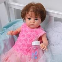 18 inches reborn baby dolls tink vinyl lifelike newborn baby full silicone reborn doll toys for girl bebe princess toddler gift