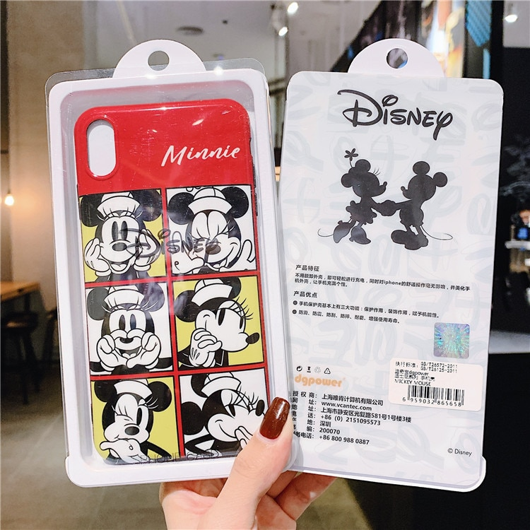 Disney couples suitable for iPhone11pro max mobile phone case anti-drop 8p/XR/XS mobile phone cover  - buy with discount