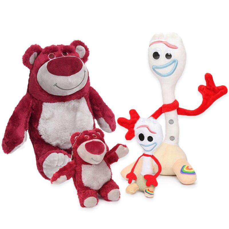 10-27cm Disney película juguete Story 4 Forky juguete Alien Lotso Hugging oso Buzz Lightyear peluche suave muñecas partido Supplie