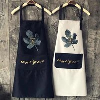 1pcs striped waterproof polyester bib apron woman adult bibs home cooking baking coffee shop cleaning aprons kitchen accessory
