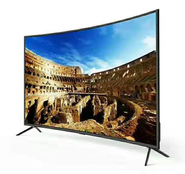 Monitor lcd curvo para android, smart tv com 40, 45, 50, 55 e 60 polegadas dolby s2, wi-fi, bluetooth, tv led, televisão