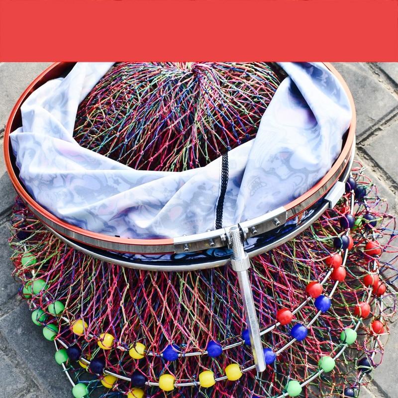 2.5m 4.0m Multi-circle Fish Guard Net Nylon Woven Manual Strong Horse Line Fishing Net Bag Special Quick-drying Fish Guard enlarge