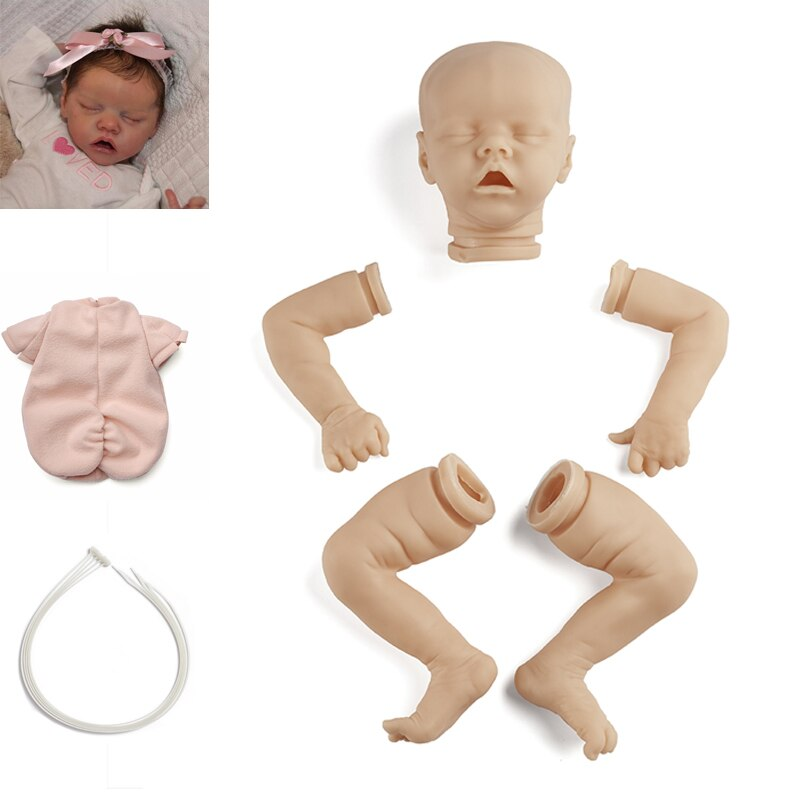 RBG Bebe Reborn Kit 17 Zoll Reborn Baby Vinyl Kit Twin EINE Unlackiert Unfinished Unmontiert Puppe Teile DIY Blank Reborn puppe Kit