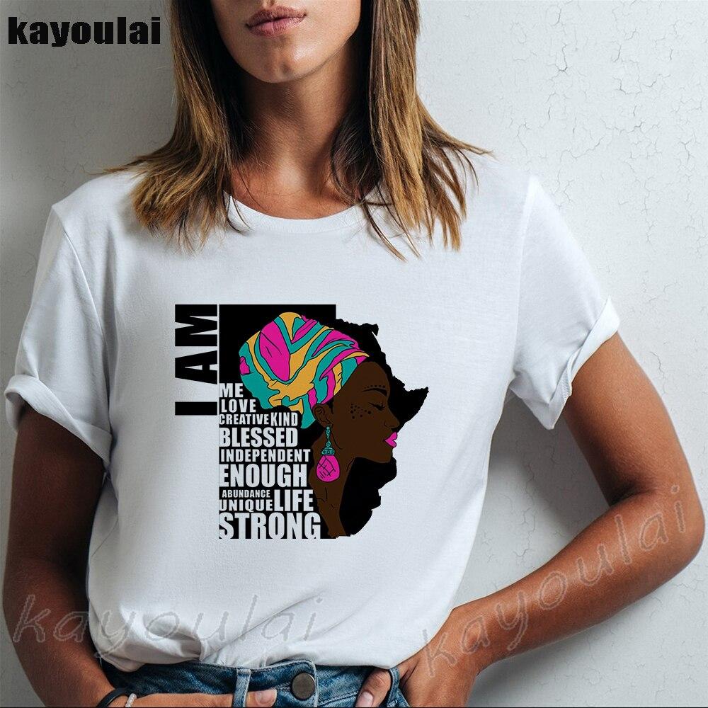 Camiseta gráfica de melanina Im Dripping, camiseta negra Afro para mujer, camiseta de Reina negra, camiseta moderna del Mes de la Historia Negra para mujer