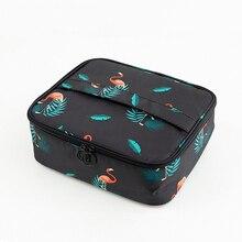 Di marca di viaggio dell'organizzatore della signora di modo di cosmetici sacchetto cosmetico estetista borse di stoccaggio di grande capacità Delle Donne di trucco del sacchetto H127