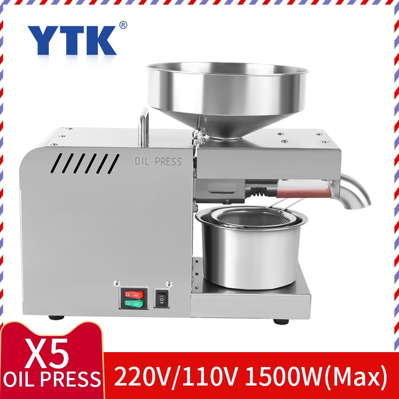 Máquina de impresión automática de aceite frío de acero inoxidable de 220V, máquina de impresión en frío de aceite, Extractor de aceite de semillas de girasol