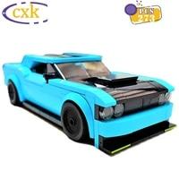 high tech super sports car challenger srt model building blocks moc blue speed racing vehicle bricks diy toys for children gifts
