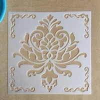 mandala 1pc 15 15cm mold diy home decoration drawing template laser cutting wall template painting tile tiles stencil
