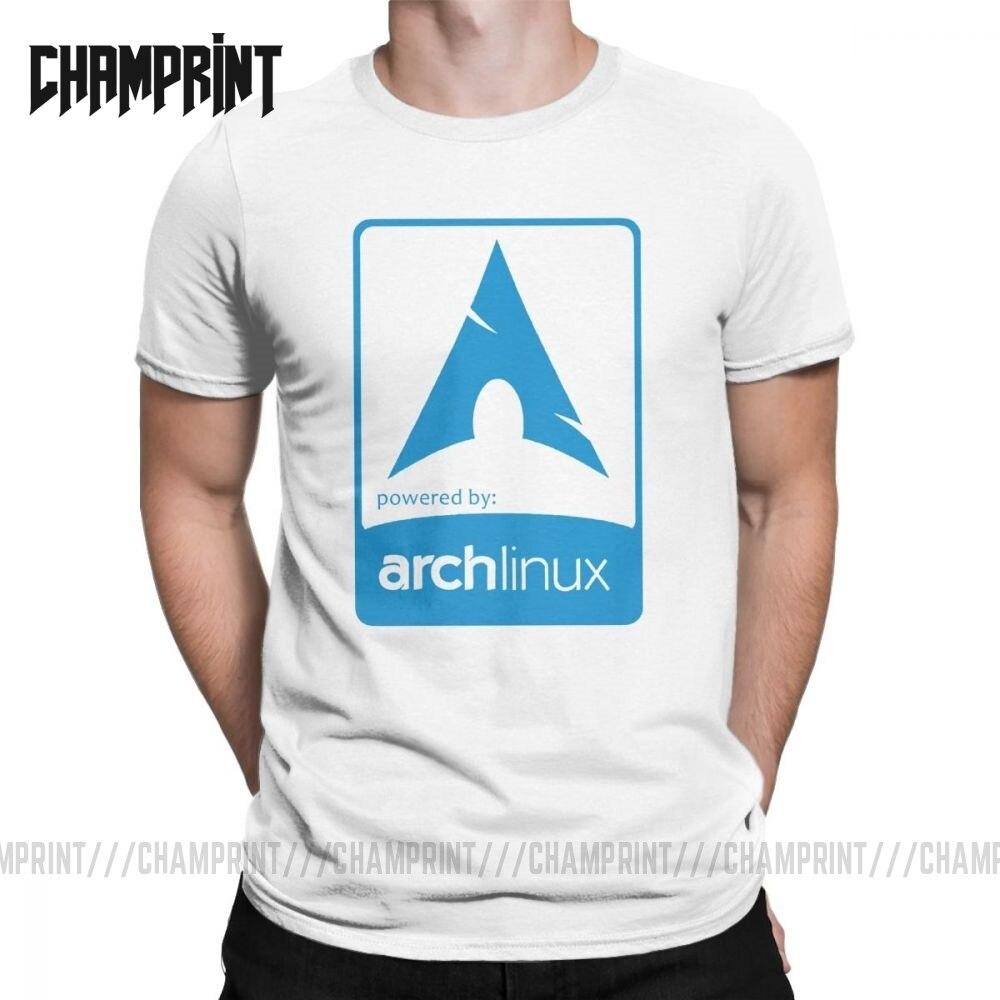 Arco Ultimate Arch Linux hombres camiseta Hipster manga corta Camiseta cuello redondo camisetas de algodón ropa de fiesta