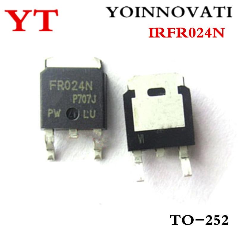 100 Stks/partij IRFR024N FR024N To-252 Mosfet N-CH 55V 17A Dpak Ic Beste Kwaliteit.