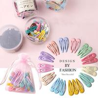 40Pcs Light Color Cute Snap Baby Children Pins Fashion Colorful Hairclips Metal Barrettes Styling Accessories (with Storage Bag)