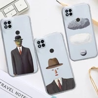 rene magritte painting phone case transparent for xiaomi redmi note 8 9 10 11 t lite pro ultra mix 4 k40