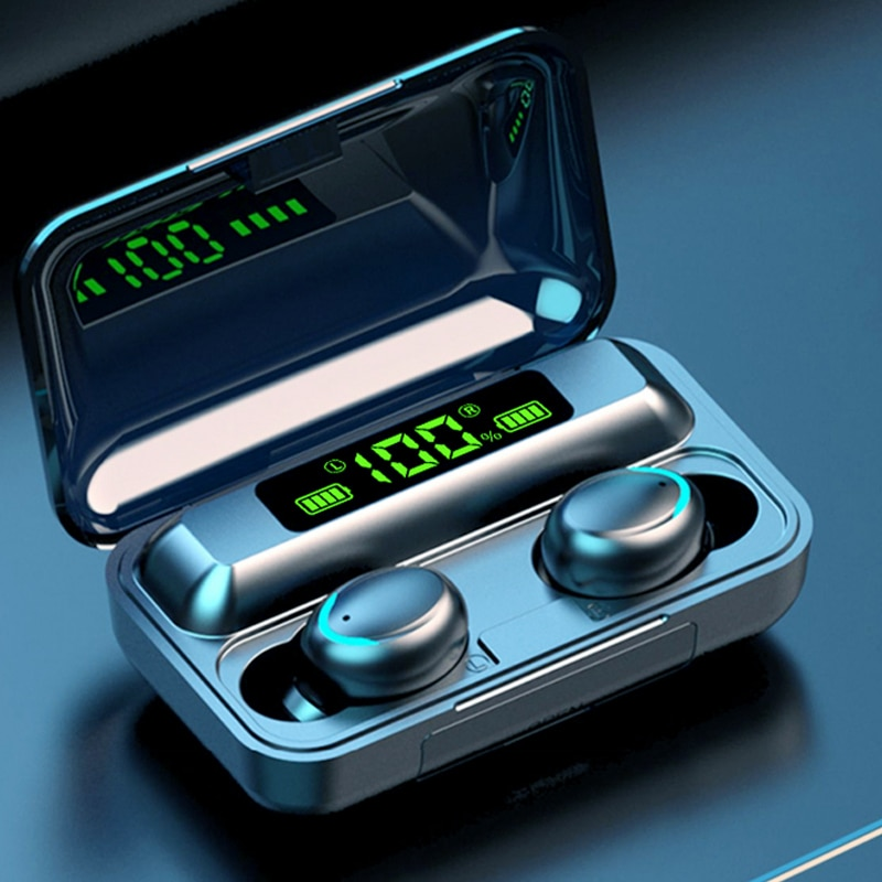 TWS Bluetooth 5.0 Earphones 9D Stereo Sport Wireless Headphones Earbuds Headset with Microphone 2000