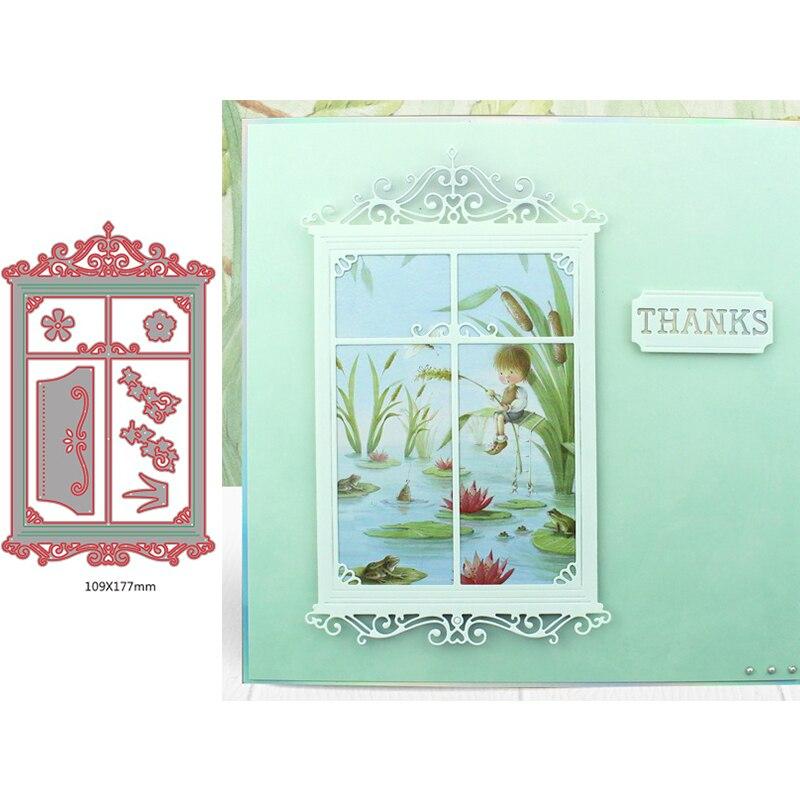 Delicado encaje europeo cuadrados marco flor graciosa hierba Metal corte troqueles para DIY álbum de recortes tarjetas nuevos troqueles