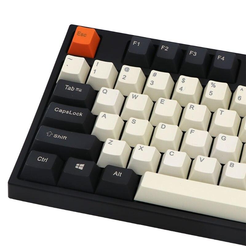 كبير الكربون الميكانيكية لوحة المفاتيح أغطية المفاتيح 108 قطعة OEM الشخصي صبغ الفرعية مفتاح غطاء متوافق مع الكرز MX GK61 64 84 96