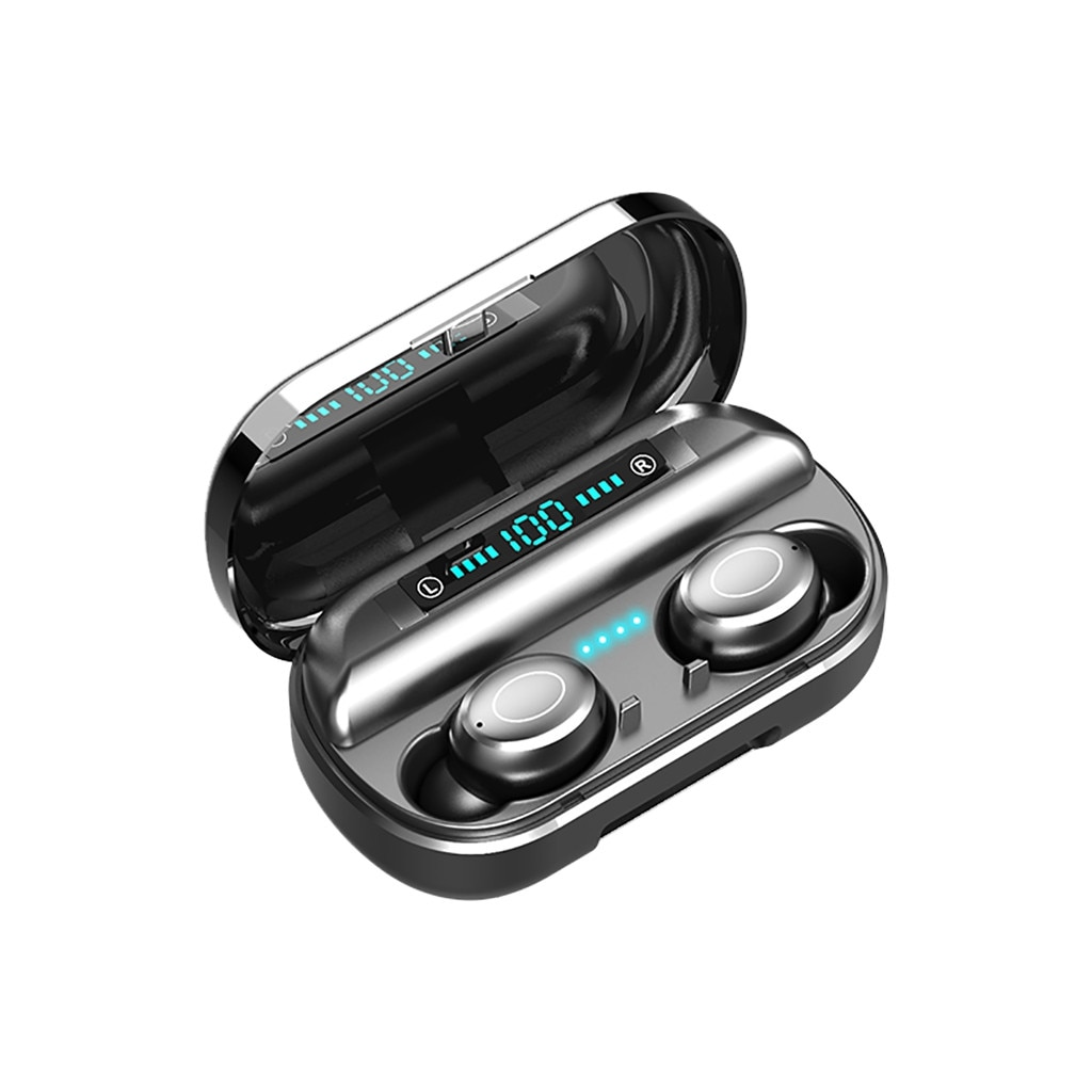 Auriculares inalámbricos Bluetooth 5 auriculares TWS Mini auriculares estéreo deportivos en auriculares para iPhone con funda de carga 4 auriculares