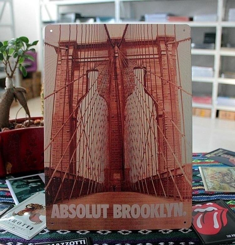 Cartel de estaño de abecedario de BROOKLYN, tienda de juegos, marquesina de...