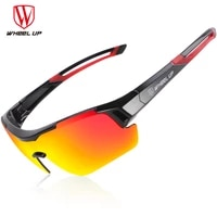 wheel up cycling glasses polarized cycling goggles outdoor sports men sunglasses mountain bike mtb road bicycle eyewear 3 lens