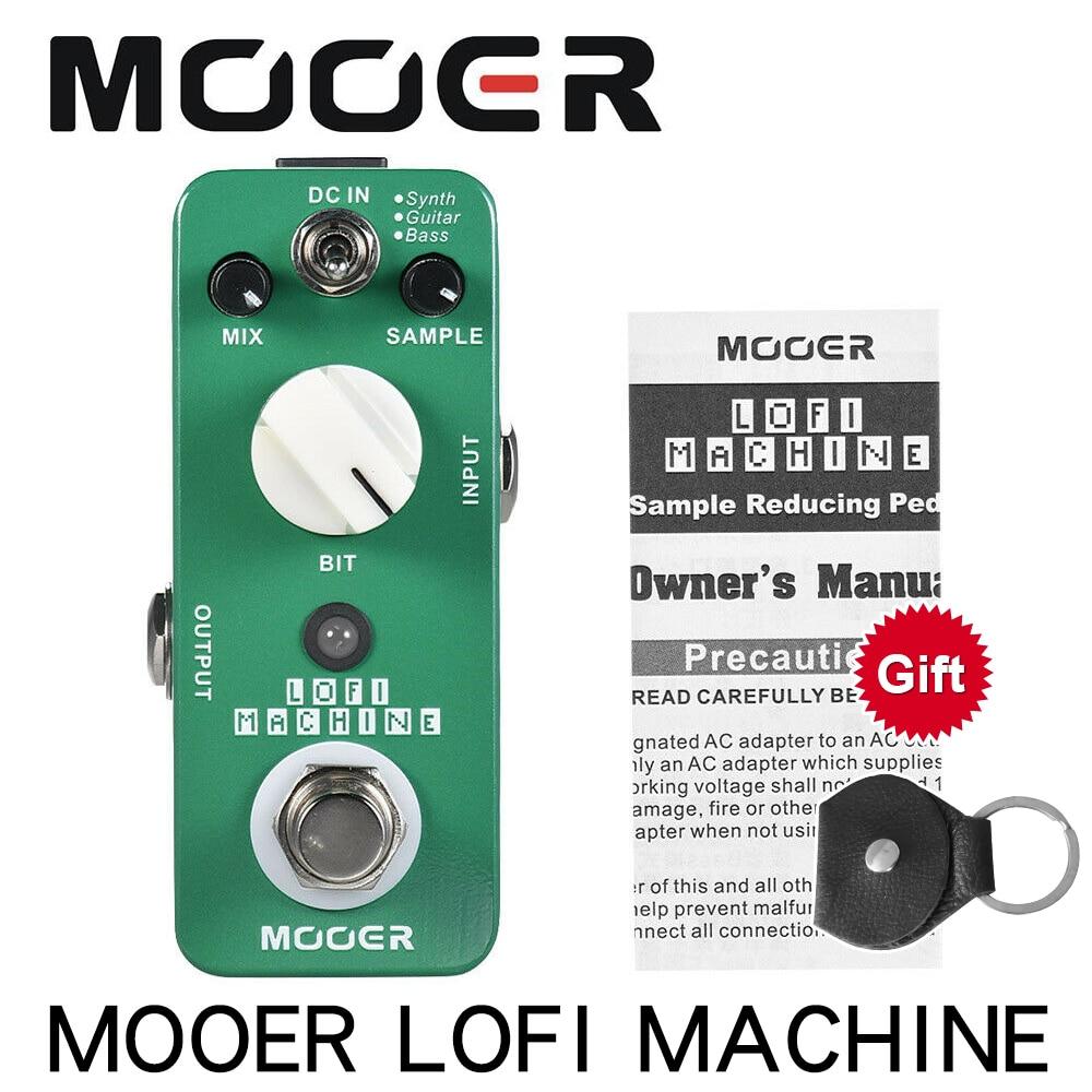 Muestra de máquina portátil MOOER LOFI Pedal reductor de efectos de guitarra 3 modos Bypass verdadero carcasa totalmente de Metal