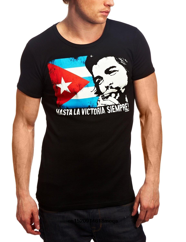 Футболка Летняя Che Guevara с логотипом кубинского флага Мужская футболка