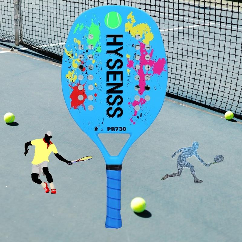 HYSENSS Professional Full Carbon Beach Tennis Paddle Racket Soft EVA Face Pickleball Raqueta Adult Tennis Racquet Equipment