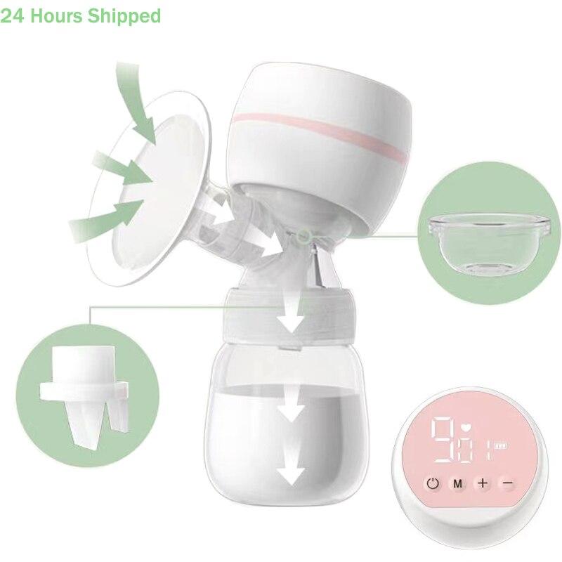Extractor de leche eléctrico con pantalla LED, extractor de leche, succión grande,...