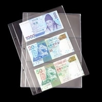 50LB 1 Album Pages 3 Pockets Money Bill Note Currency Holder PVC Collection 180x80mm