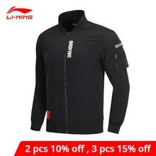 Li-ning hombres BAD FIVE chaqueta de baloncesto a prueba de ajuste Regular inteligente impresión bolsillos Li Ning forro de deportes abrigos AJDP005 MWJ2591