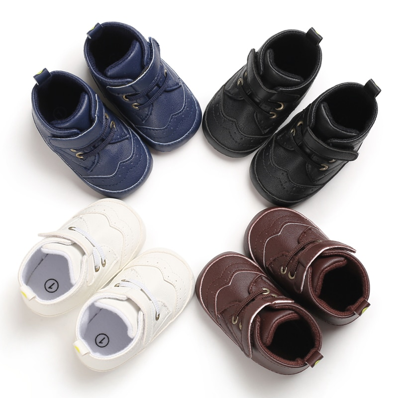 Toddler Baby Shoes Newborn Baby Boys Girls First Walkers PU Leather Sneaker Soft Sole Shoes Non-slip Footwear Infant Shoes