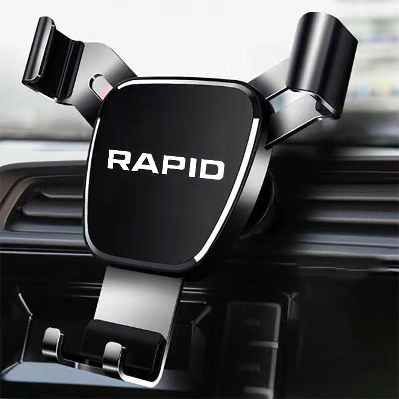 Metal Phone Holder Car Navigation Mobile Phone Holder GPS Bracket Support For Skoda rapid 2014 2015