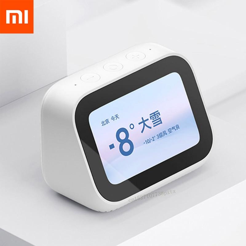 Para Xiaomi AI pantalla táctil Bluetooth 5,0 altavoz pantalla Digital reloj de alarma altavoz inteligente compañero 5000mAh de potencia para