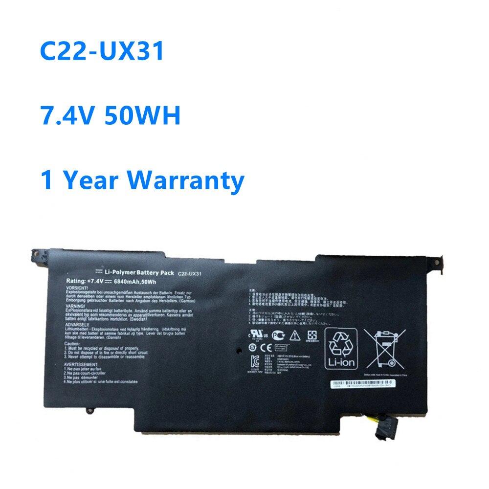 Bateria do Portátil para Asus Zenbook Ux31e-dh72 C23-ux31 7.4v 50wh – 6840mah C22-ux31 Ux31 Ux31a Ux31e